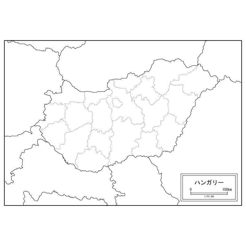 Map Of Hungary Blank Map Speciality Shop In Japan - Hungary blank map
