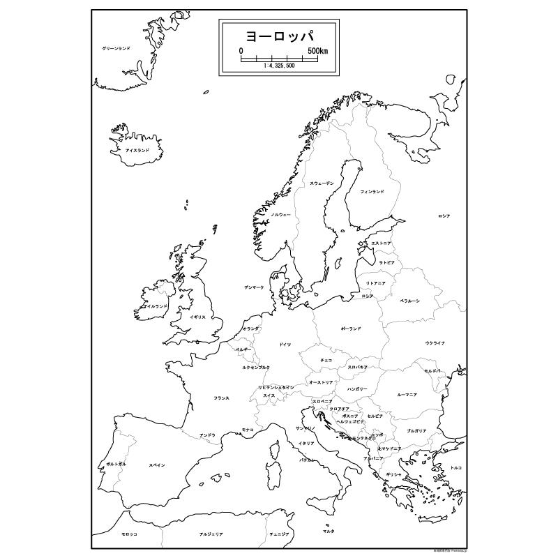 ヨーロッパの白地図を無料ダウンロード 白地図専門店