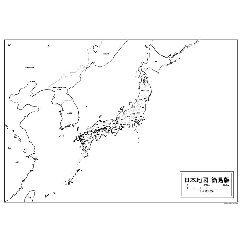 ... その1の地図【白地図専門店