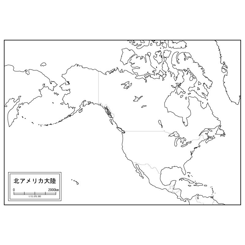 地図 北 アメリカ