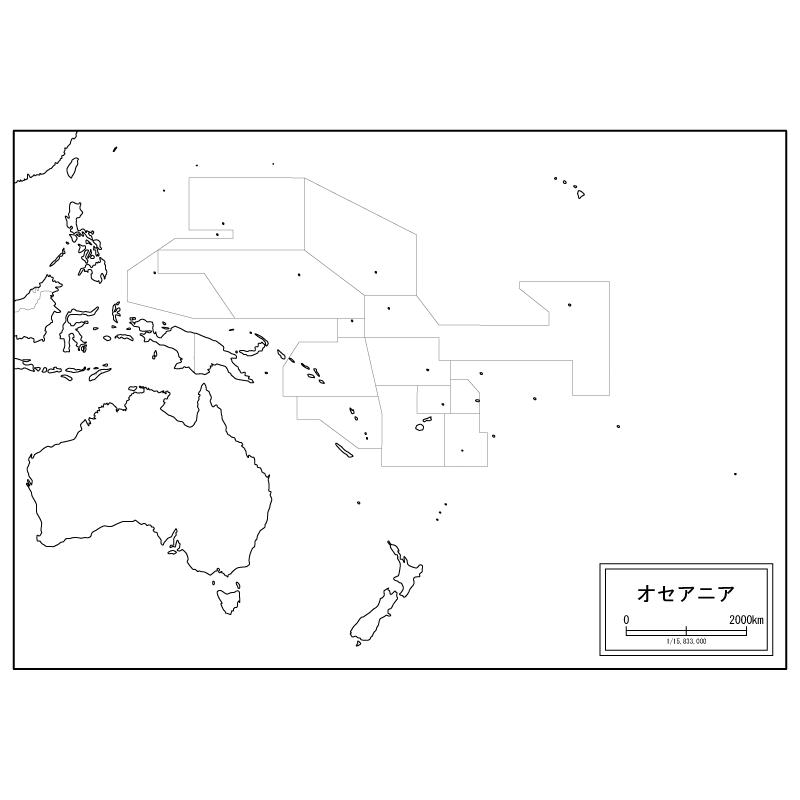 オセアニアの白地図のサムネイル