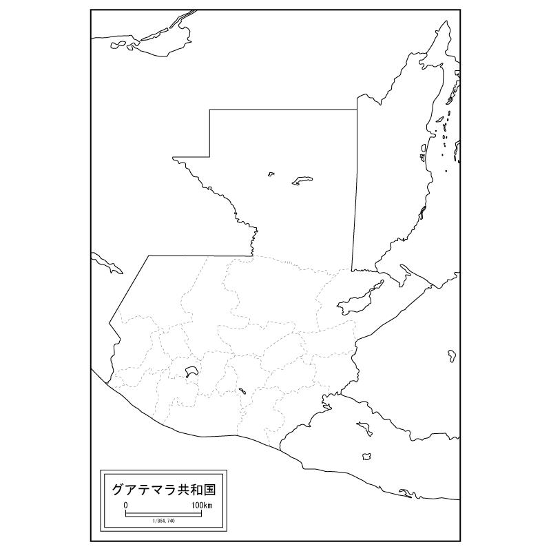 グアテマラの白地図